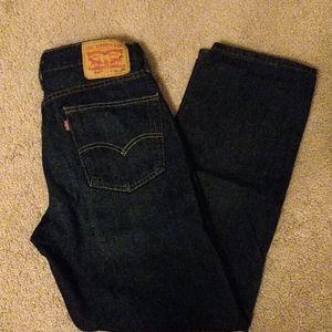 Levi's 514 dark wash jeans